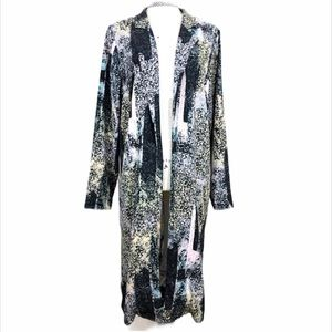 Warehouse Printed Long Sleeve Open Duster